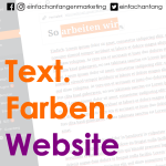 Text. Farben. Website